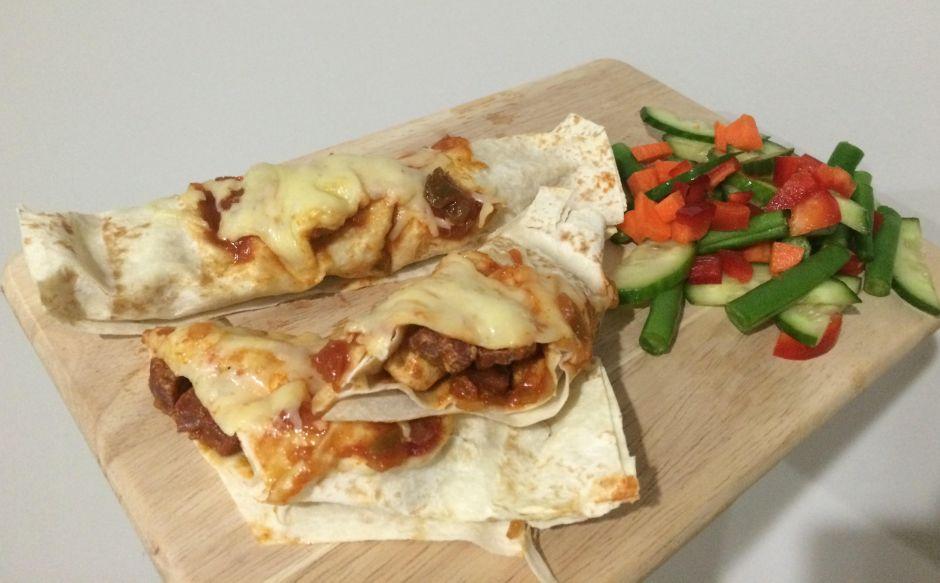 Lose Baby Weight- Chicken & Chorizo Enchiladas