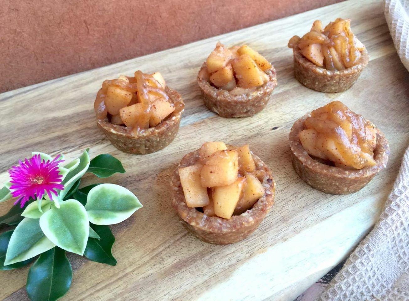 Healthy Apple Tarts with Caramel Sauce