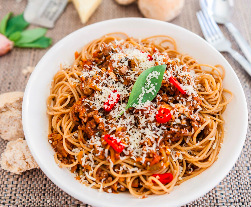 slow cooked spagetti bolognese