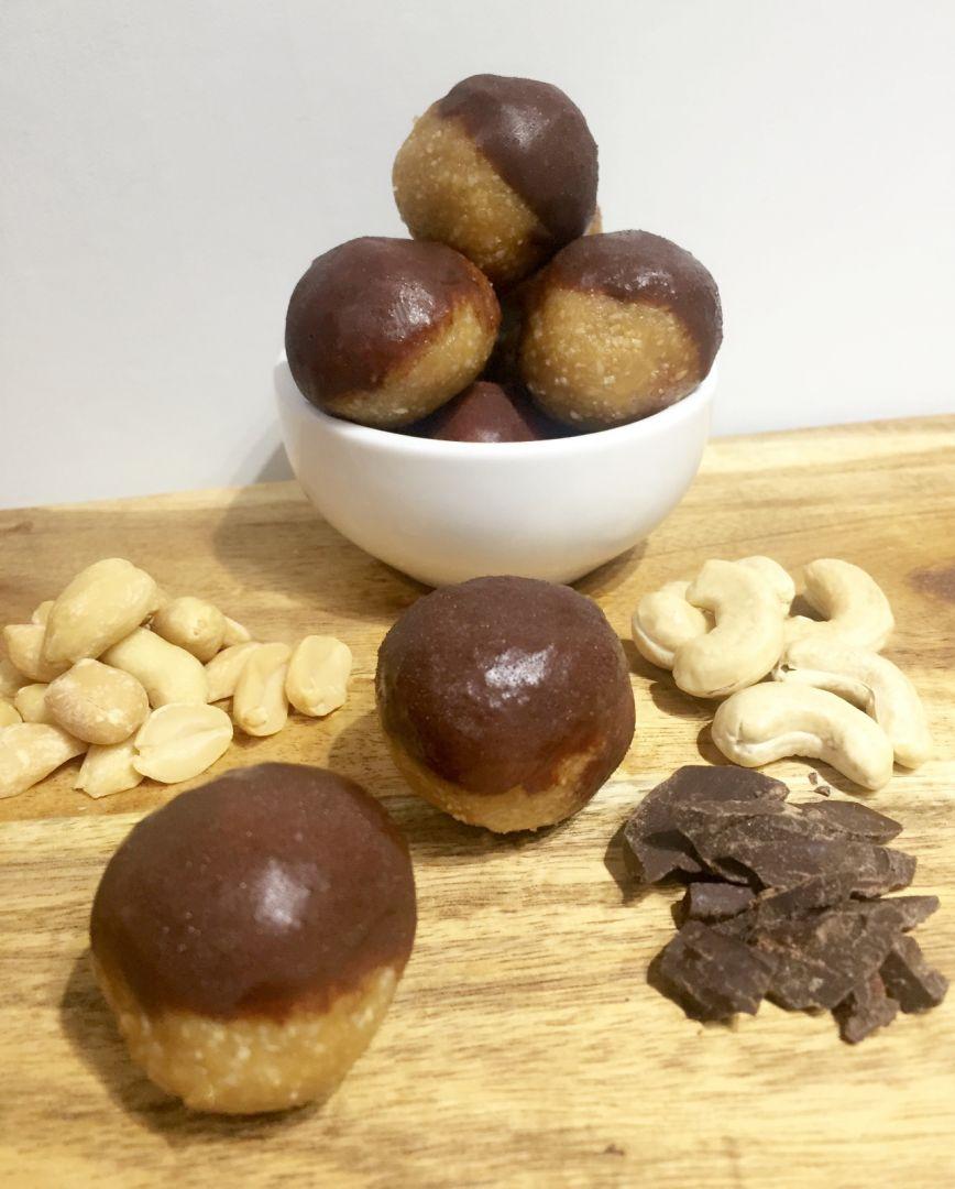 Choc Dipped Peanut Butter Balls