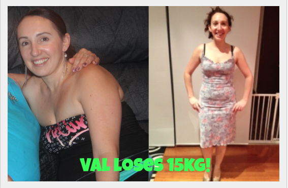 Val Loses 15kg - Lose Baby Weight